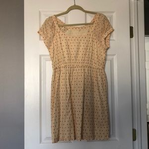 J. Crew cotton dress with red polka dots